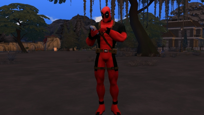 Deadpool Costume by G1G2 at SimsWorkshop  Sims 4 Updates