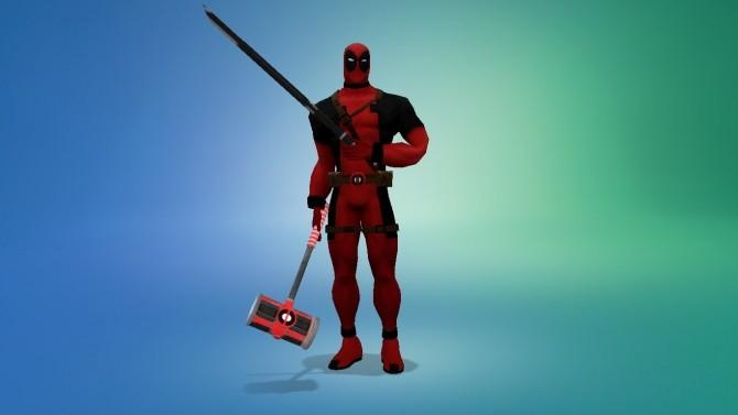 Deadpool hammer and katana by G1G2 at SimsWorkshop  Sims