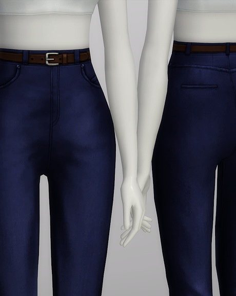 High waist jeans at Rusty Nail  Sims 4 Updates