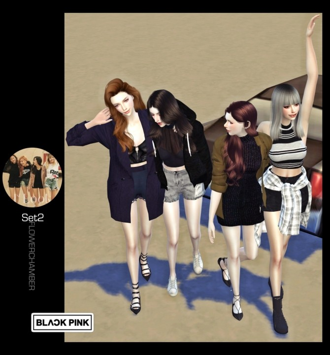 BLACKPINK POSES SET at Flower Chamber  Sims 4 Updates