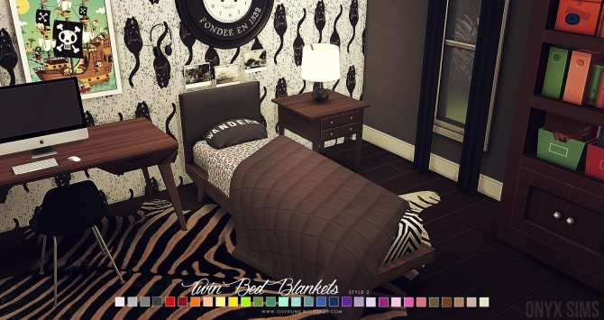 Twin Size Boy Bedding  Blankets at Onyx Sims  Sims 4 Updates