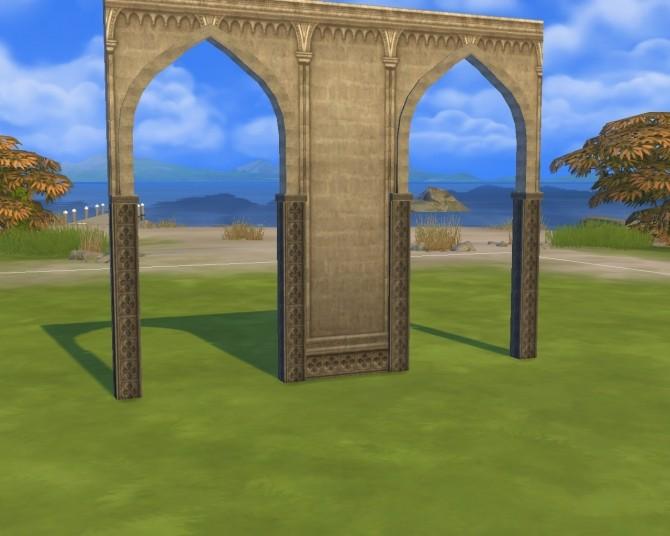 Monastery arch and walls at Mara45123  Sims 4 Updates