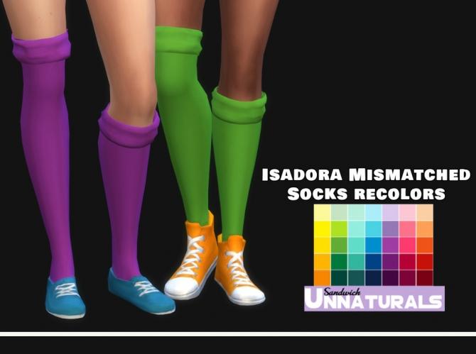 Isadora Mismatched Socks Recolors at Maimouth Sims4  Sims