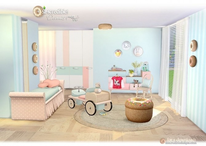 hanging chair the sims 4 razor gaming donuts kidsroom at simcredible! designs » updates