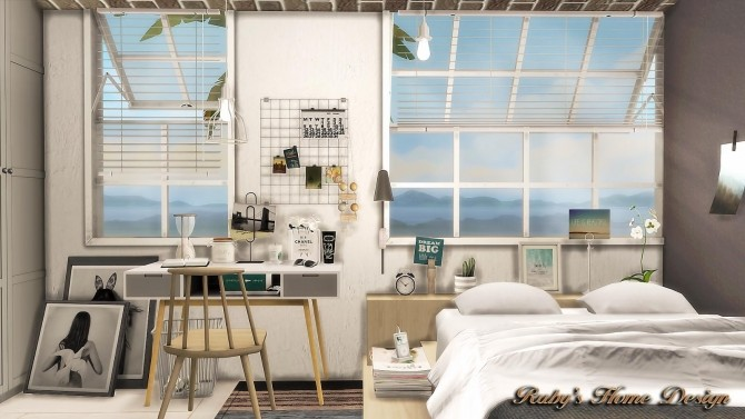 Scandinavian Retreat by Ruby Red at Rubys Home Design  Sims 4 Updates