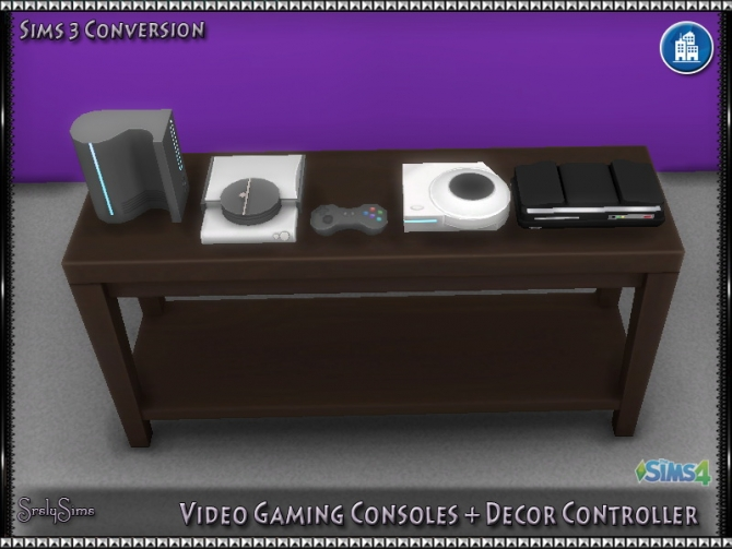 Video Gaming Consoles  Decor Controller at SrslySims  Sims 4 Updates