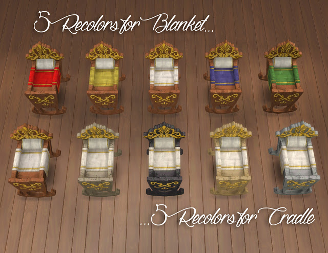 Royal Cradle Conversion from The Sims Medieval by Anni K at Historical Sims Life  Sims 4 Updates