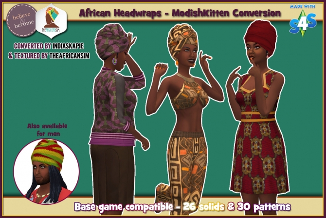Conversion of ModishKittens African Headwrap at The
