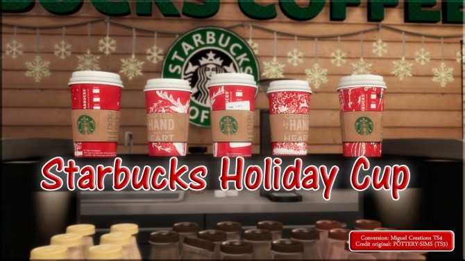 Starbucks Holiday Cup at Victor Miguel  Sims 4 Updates