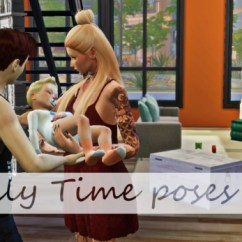 Blue Kitchen Appliances Free Standing Kitchens Family Time Poses At Simsnema » Sims 4 Updates