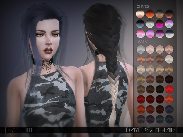 Daydream Hair by Leah Lillith at TSR  Sims 4 Updates