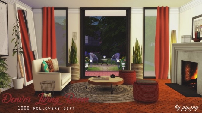 Denver Living Room At Pyszny Design Sims 4 Updates