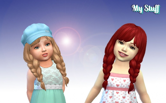 Spring Braids for Toddlers at My Stuff  Sims 4 Updates