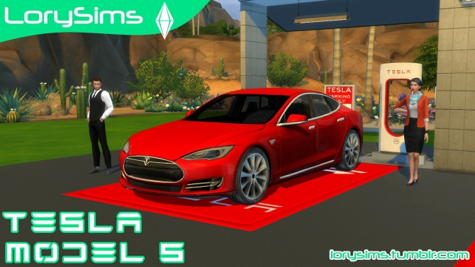 Tesla Model S at LorySims  Sims 4 Updates