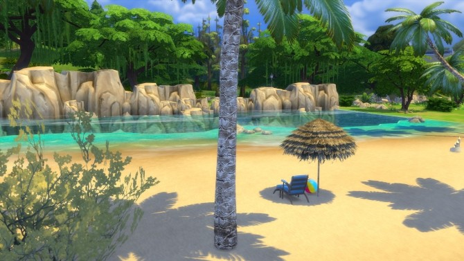 Mini Tropical Beach With Waves by Snowhaze at Mod The Sims