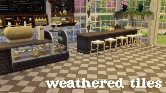 Weathered Tiles At Hamburger Cakes Sims 4 Updates