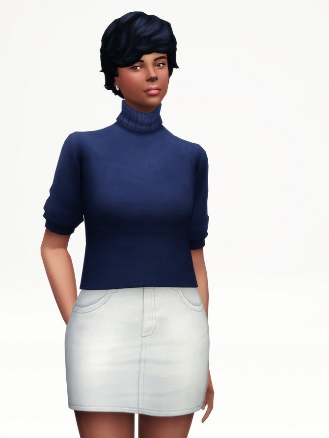 Halfsleeves turtle neck sweater at Rusty Nail  Sims 4 Updates