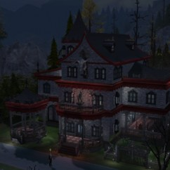 Denim Living Room Furniture Small Rooms Vampire Mansion At Tatyana Name » Sims 4 Updates