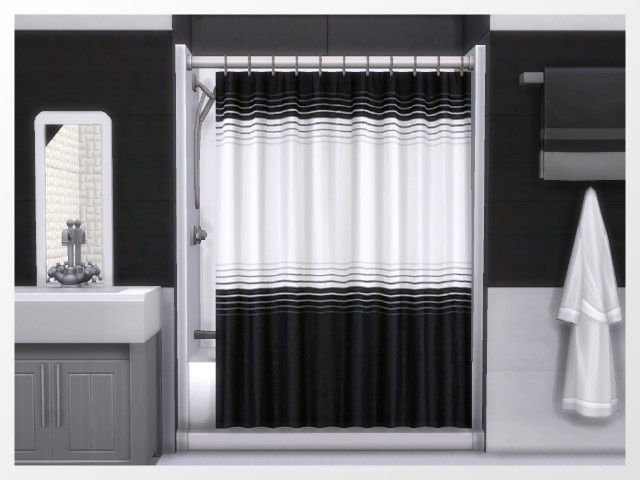 kitchen curtians cabinets miami xtreme shower curtains by oldbox at all 4 sims » ...