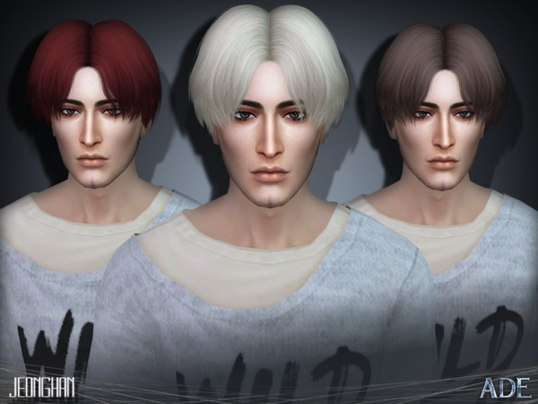 Jeonghan hair by Ade_Darma at TSR  Sims 4 Updates