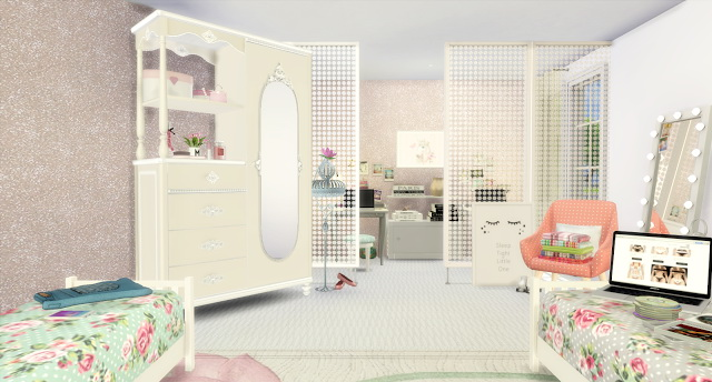 Twin Girls Bedroom at Lily Sims  Sims 4 Updates