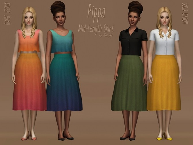 Pippa MidLenght Skirt at Trillyke  Sims 4 Updates