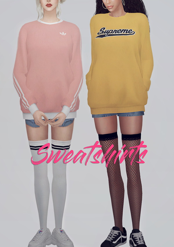 Sweatshirts 03 FM at KKs Sims4  ooobsooo  Sims 4 Updates
