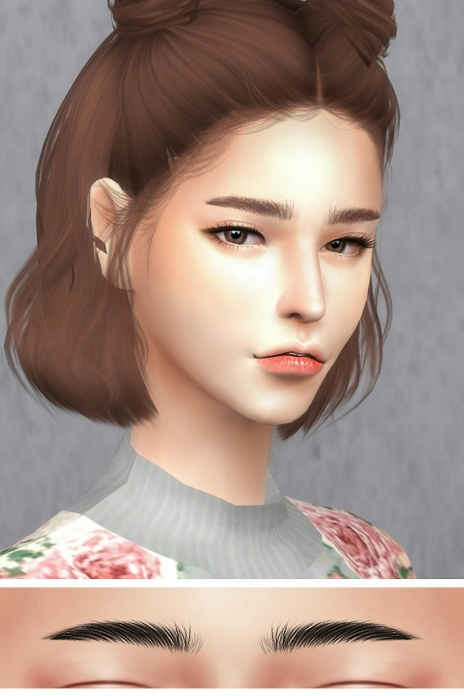 GPME F Eyebrows at GOPPOLS Me  Sims 4 Updates