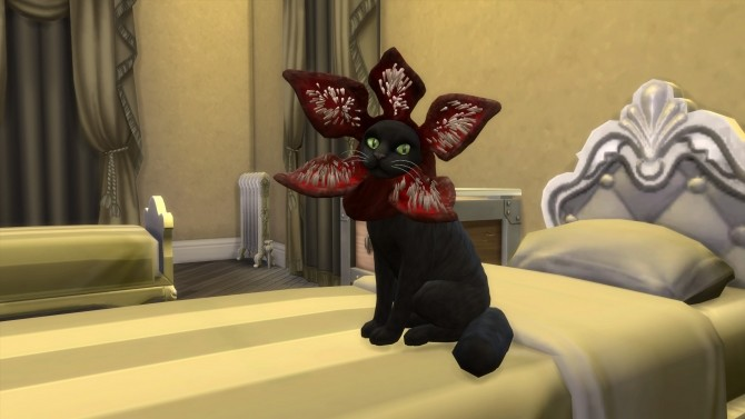 Demogorgon cat hat by flerb at Mod The Sims  Sims 4 Updates