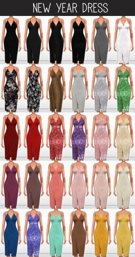 New Year Dress at Elliesimple  Sims 4 Updates