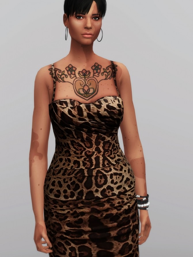 Leopard Print Mid dress at Rusty Nail  Sims 4 Updates