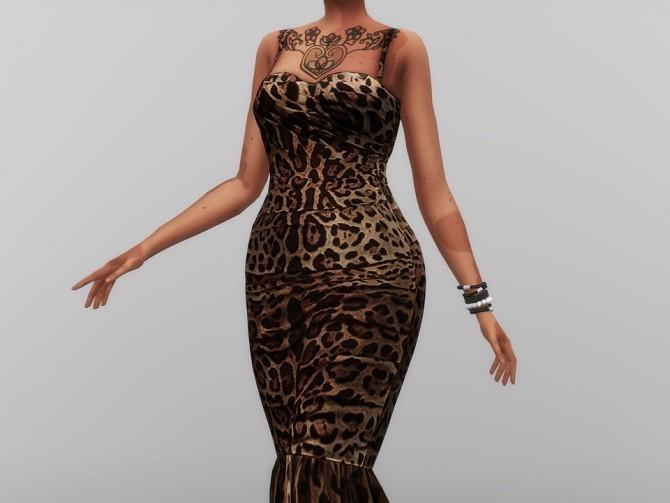 Leopard Print Mid dress at Rusty Nail  Sims 4 Updates