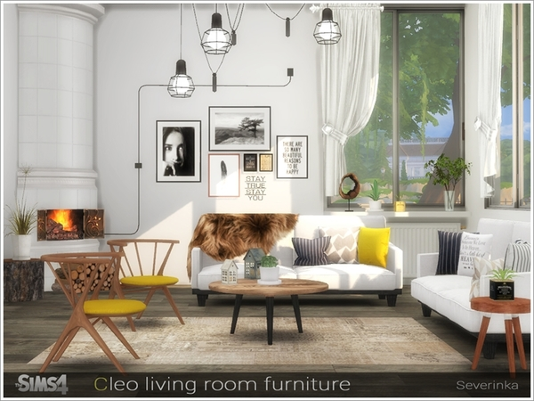 Cleo Living Room By Severinka At Tsr » Sims 4 Updates
