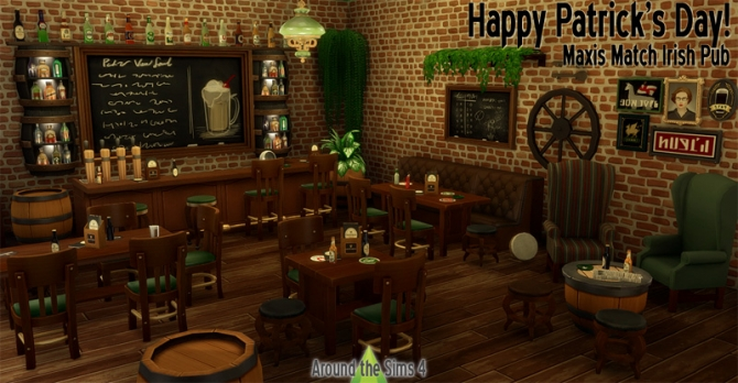 Irish Pub by Sandy at Around the Sims 4  Sims 4 Updates
