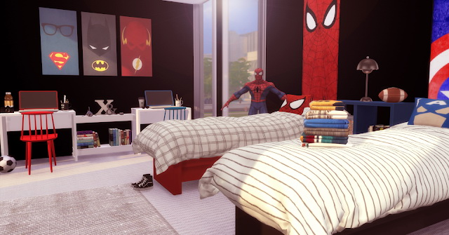 Super Hero Twins Bedroom At Lily Sims 187 Sims 4 Updates
