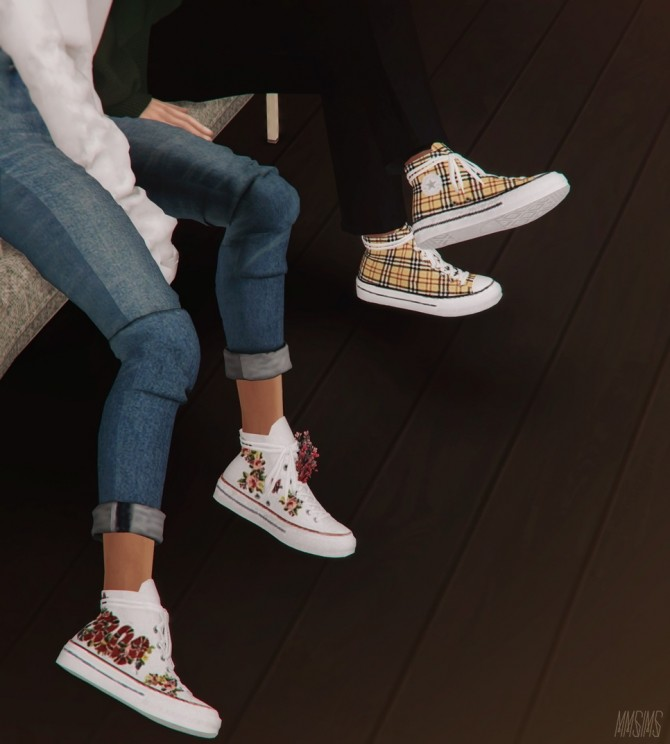 Positive Sneakers  Flowers at MMSIMS  Sims 4 Updates
