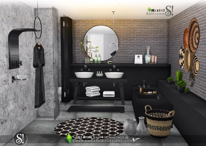 Sarah fernandez the number of bathrooms in a home can really make or break the home's overall functionality for its inhabitants. Mix It! bathroom set at SIMcredible! Designs 4 » Sims 4 ...