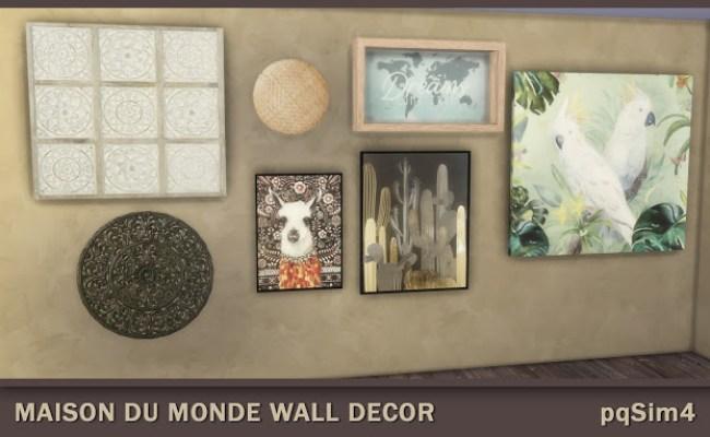 Maison Du Monde Wall Decor At Pqsims4 Sims 4 Updates