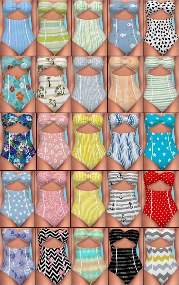 Island Living Swimwear Recolors at Annetts Sims 4 Welt
