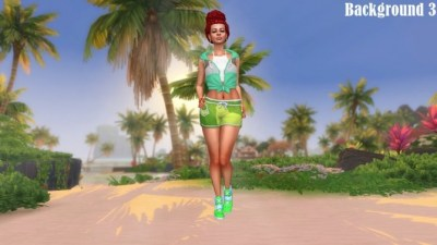 Island Living Landscape CAS Backgrounds at Annett's Sims 4 ...