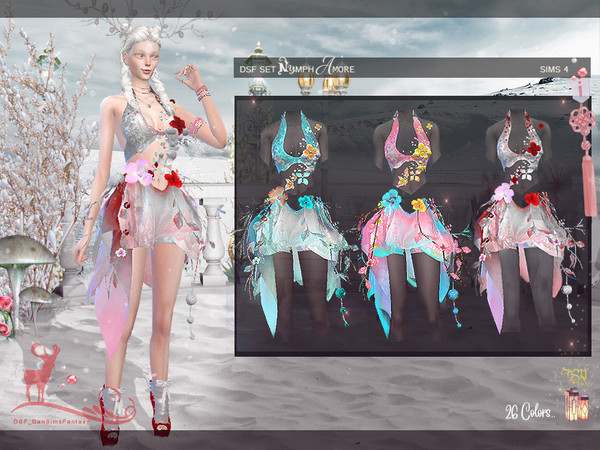 DSF SET NYMPH AMORE by DanSimsFantasy at TSR » Sims 4 Updates