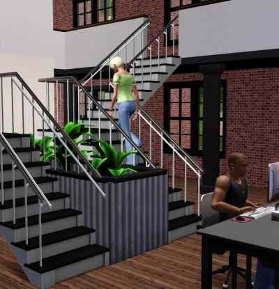 The Sims 3 Store - L-Shaped Stairs Screenshot