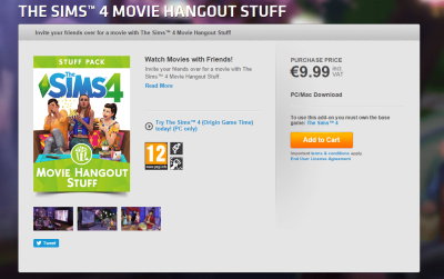 The Sims 4 Movie Hangout Stuff NOW AVAILABLE ON ORIGIN!