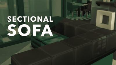 The Sims 4 Creative Construction: DIY Sectional Sofa