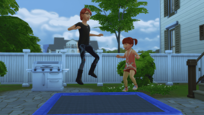 The Sims 4 - Functional Trampoline Custom Content