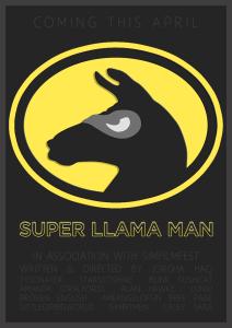 Super Llama Man Poster