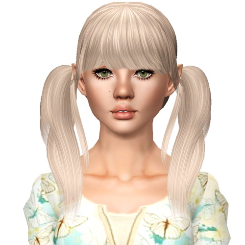 Raonjena S 07 Two Wraped Ponytail Hairstyle Retextured By Sjoko