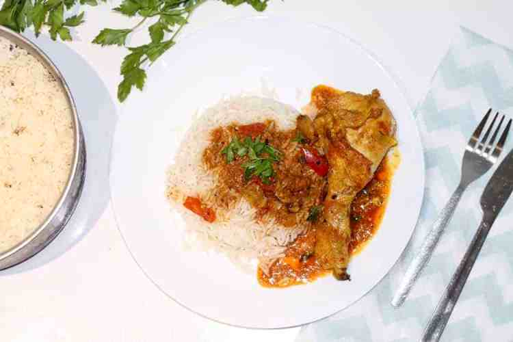 How to cook Rice and Chicken Curry