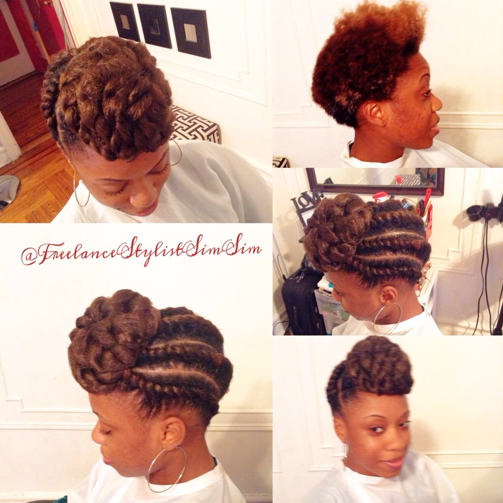 Natural Updo Hairstyle W Flat Twist Www Simsimstyles Com