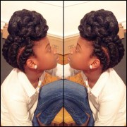 protective hairstyle. natural hairstyles